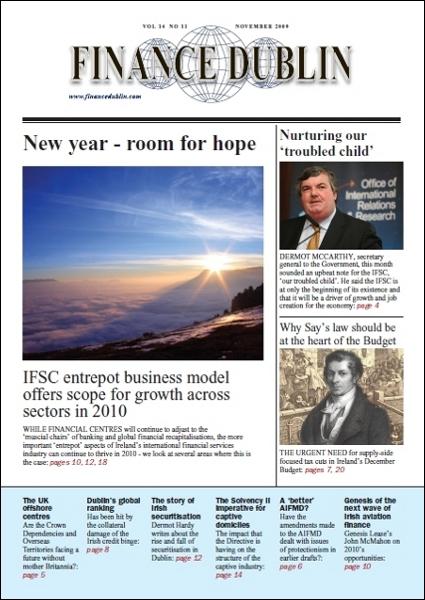 November 2009 Issue of Finance Dublin