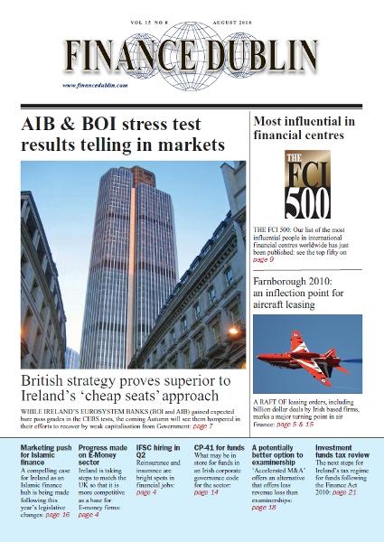 August 2010 Issue of Finance Dublin