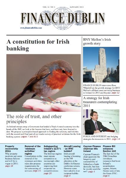 January 2011 Issue of Finance Dublin