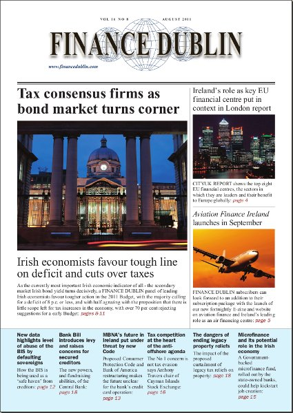 August 2011 Issue of Finance Dublin