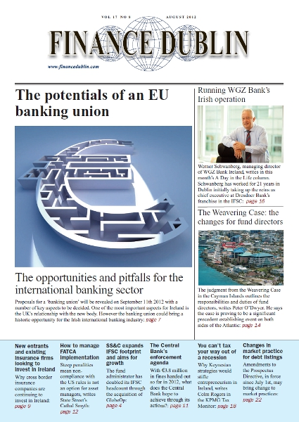 August 2012 Issue of Finance Dublin