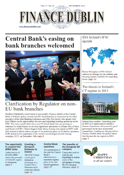 December 2012 Issue of Finance Dublin