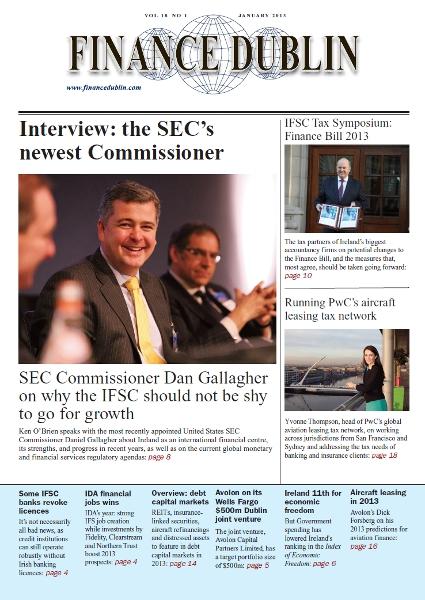 January 2013 Issue of Finance Dublin
