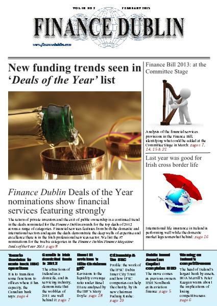 February 2013 Issue of Finance Dublin