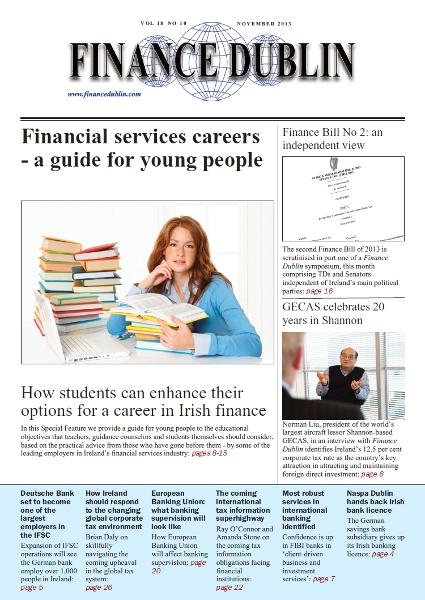 November 2013 Issue of Finance Dublin