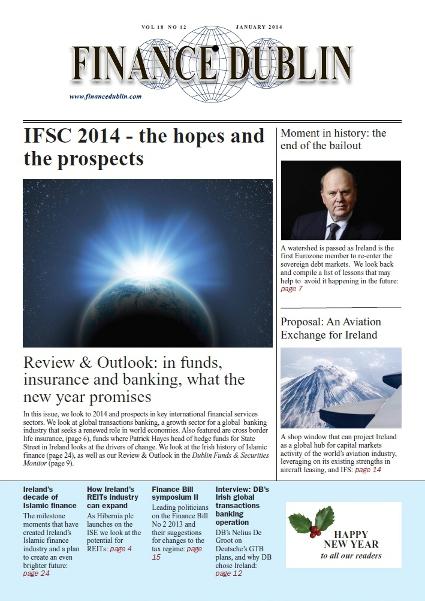 January 2014 Issue of Finance Dublin