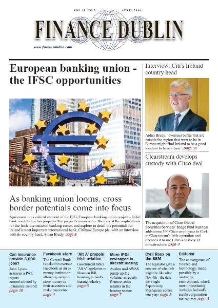 April 2014 Issue of Finance Dublin