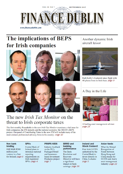 September 2015 Issue of Finance Dublin