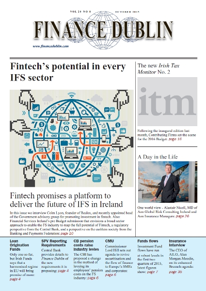 October 2015 Issue of Finance Dublin