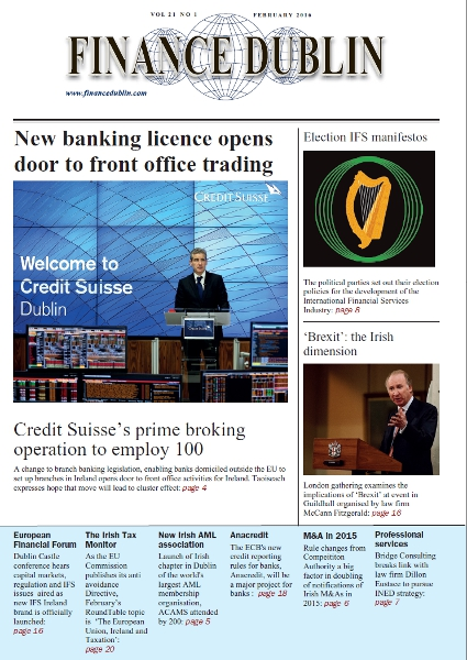 February 2016 Issue of Finance Dublin
