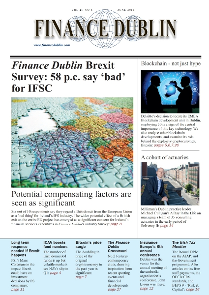 June 2016 Issue of Finance Dublin