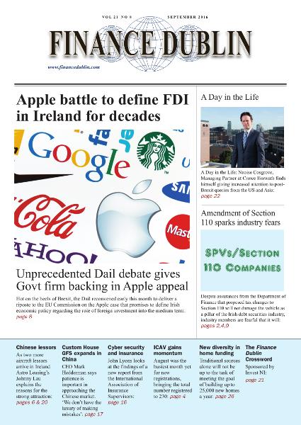 September 2016 Issue of Finance Dublin