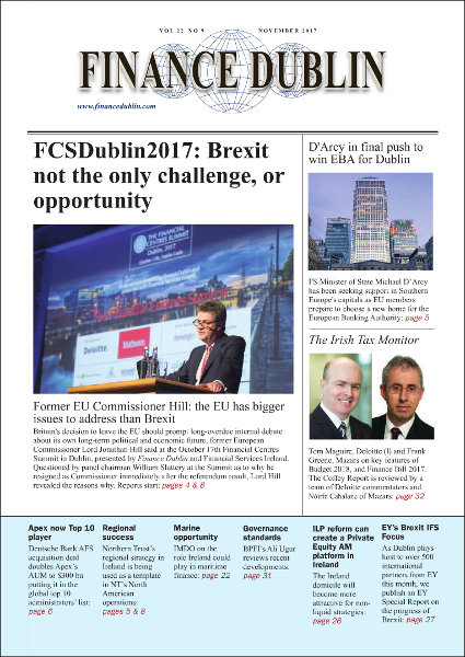 November 2017 Issue of Finance Dublin