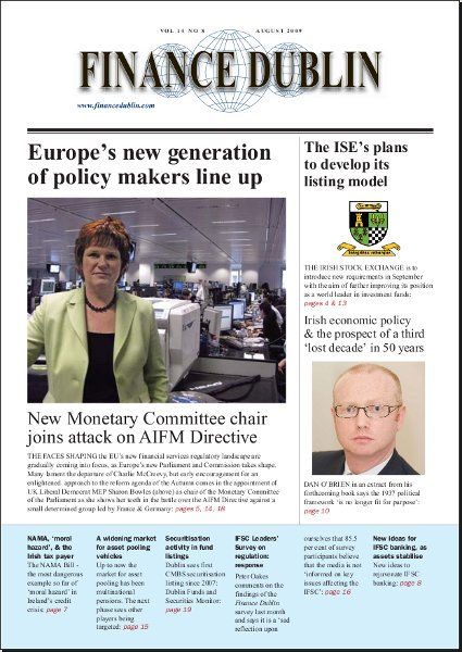 August 2009 Issue of Finance Dublin