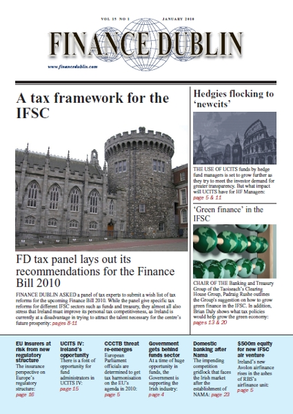 January 2010 Issue of Finance Dublin