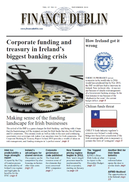 November 2010 Issue of Finance Dublin