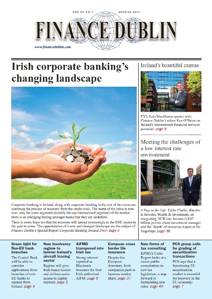 August 2013 Issue of Finance Dublin