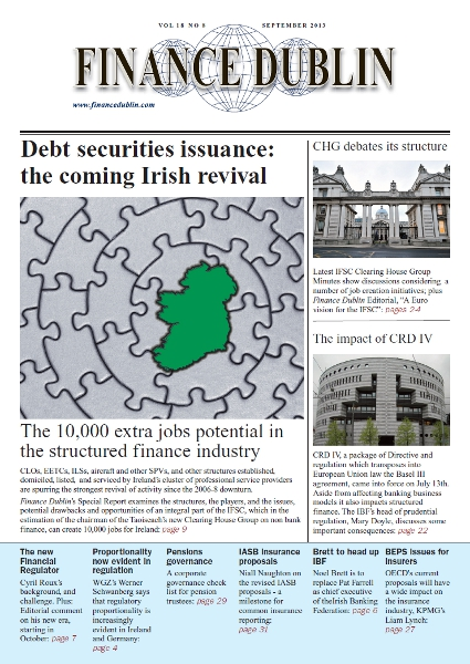 September 2013 Issue of Finance Dublin