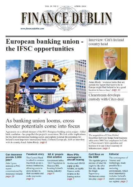 April 2014 Issue of Finance Dublin