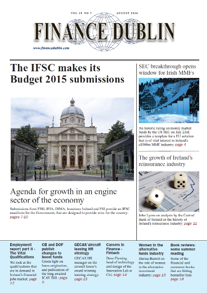 August 2014 Issue of Finance Dublin