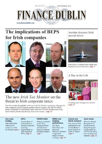 September 2015 Issue of Finance Dublin