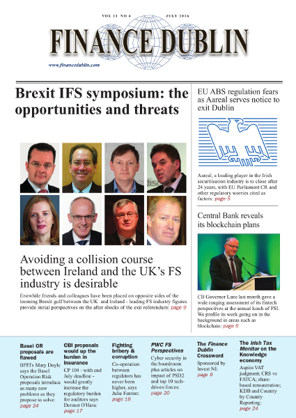 July 2016 Issue of Finance Dublin
