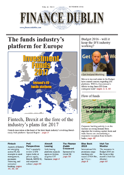 October 2016 Issue of Finance Dublin