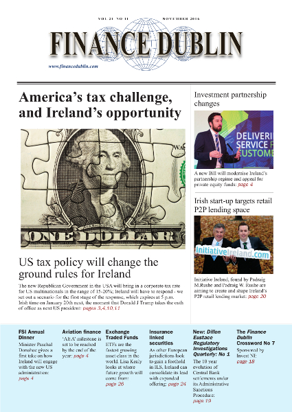 November 2016 Issue of Finance Dublin
