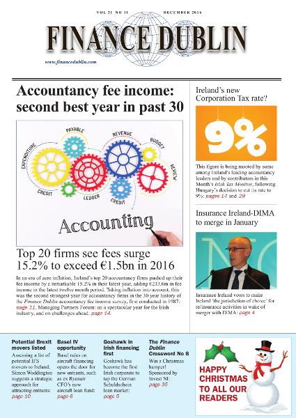 December 2016 Issue of Finance Dublin