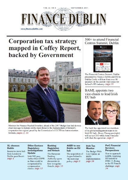 September 2017 Issue of Finance Dublin