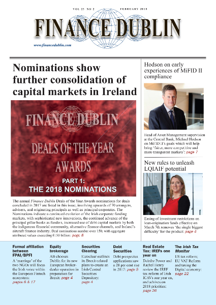 February 2018 Issue of Finance Dublin