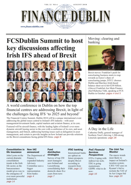 August 2018 Issue of Finance Dublin