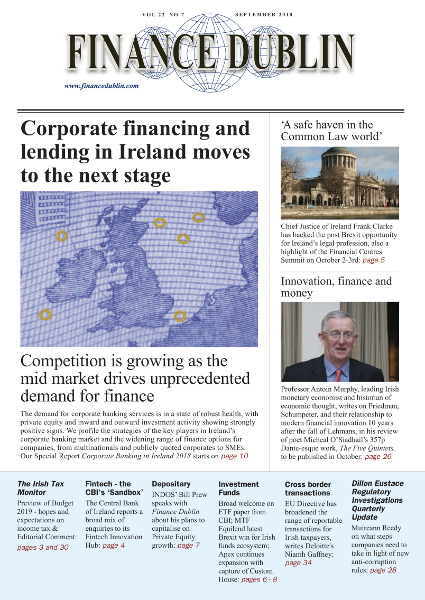 September 2018 Issue of Finance Dublin