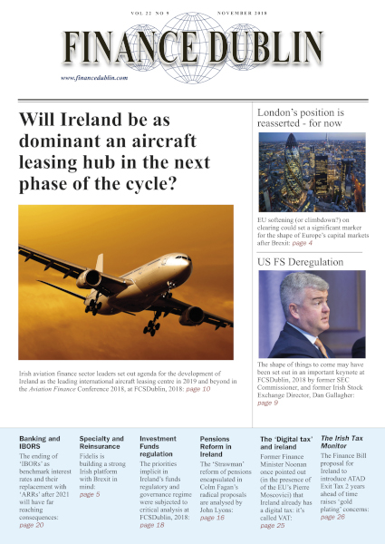 November 2018 Issue of Finance Dublin