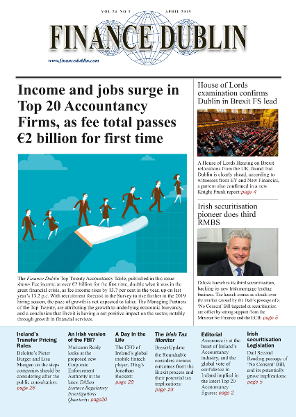 April 2019 Issue of Finance Dublin