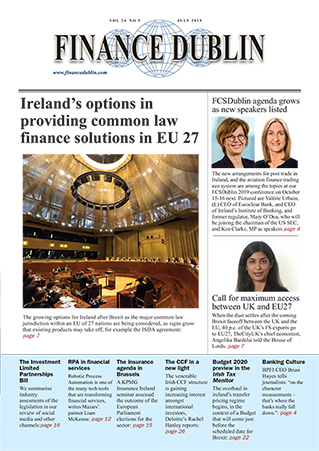July 2019 Issue of Finance Dublin