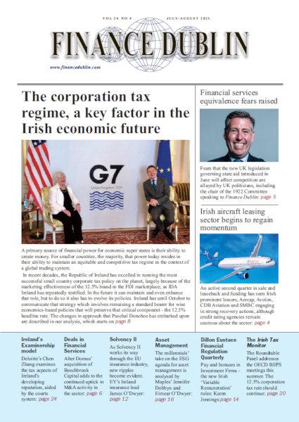 July 2021 Issue of Finance Dublin